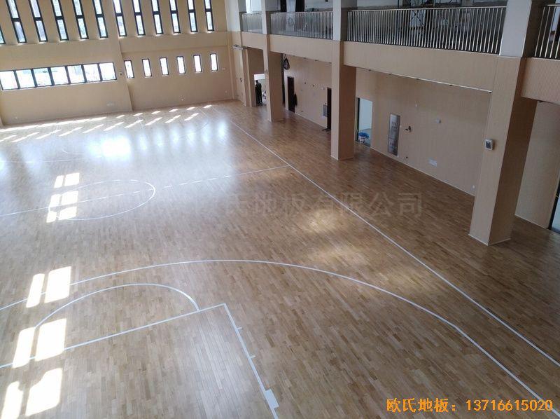 上海嘉定区大居小学运动地板安装案例