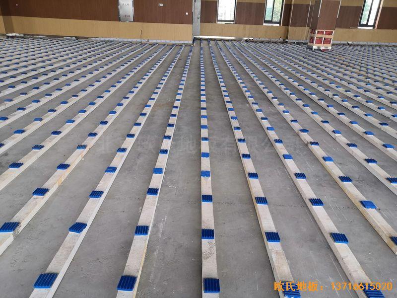 南京埔口区实验小学体育木地板施工案例