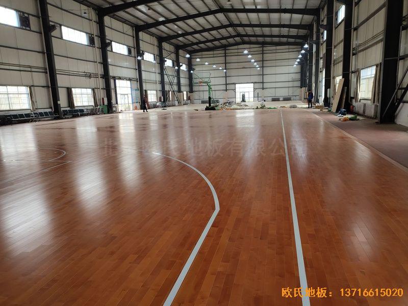 山东临沂市监狱运动木地板施工案例