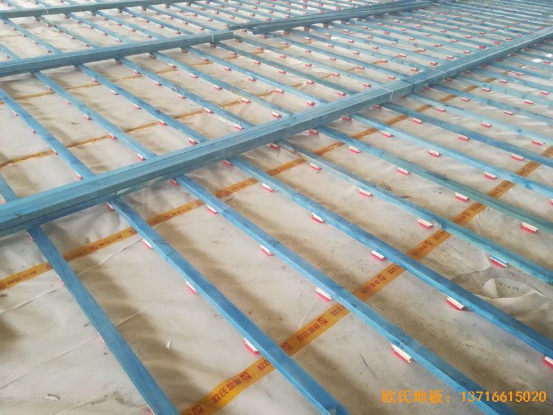 山东济南历城区小学体育木地板铺装案例