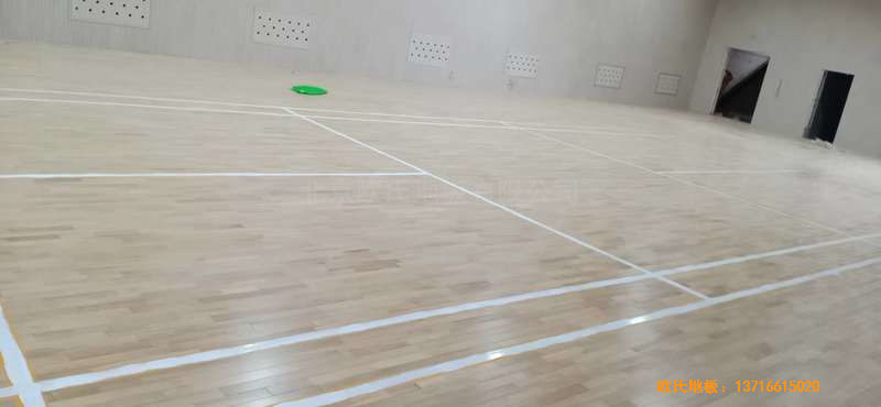 山西运城财经学校体育木地板铺装案例