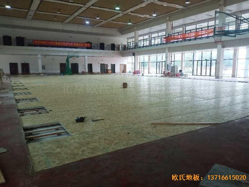 广西来宾市较好的中学运动木地板铺设案例