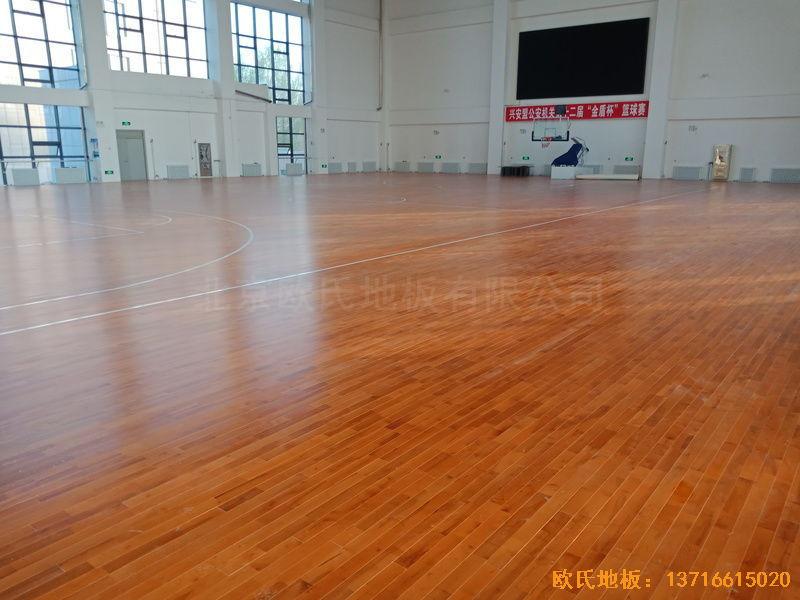 乌兰浩特兴安盟公安局体育地板施工案例