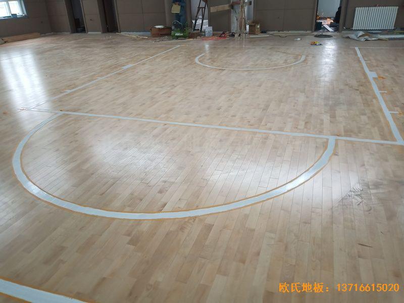 新疆克拉玛依市独山子虹园小区体育馆运动地板安装案例