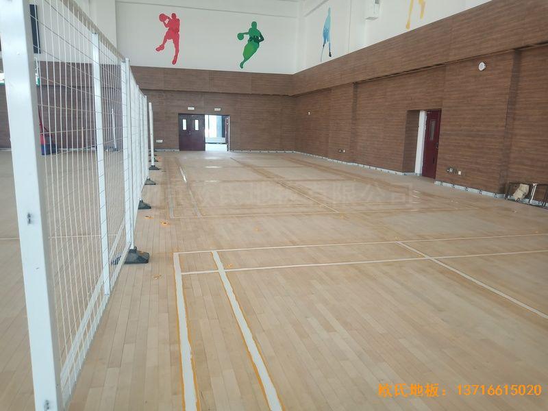新疆和田昆玉市文化馆运动木地板铺装案例