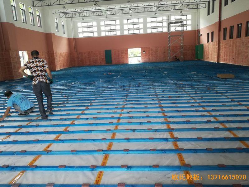 武汉华师南湖附小体育地板安装案例