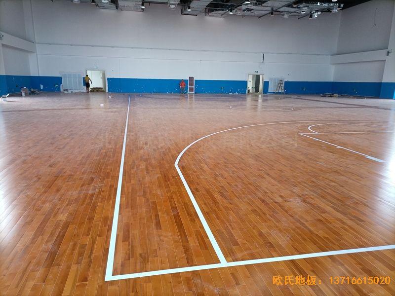 江苏宿迁富民路学校体育木地板铺装案例