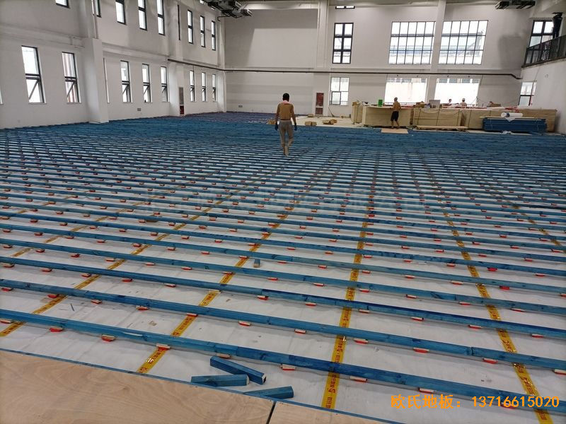 江苏宿迁运河路学校体育地板铺设案例
