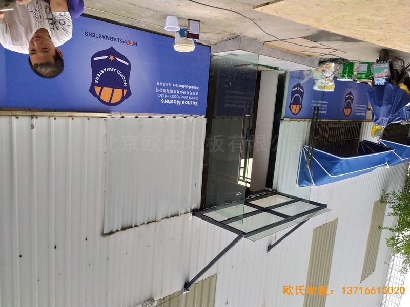 江苏昆山市博瑞祥汽车一站服务运动地板施工案例