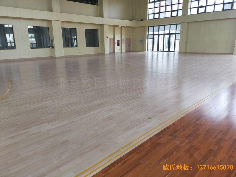 江苏连云港消防队运动木地板铺设案例