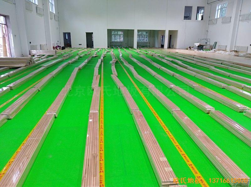 佳木斯同江消防队体育地板安装案例
