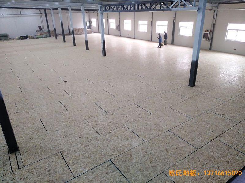 河南濮阳永康篮球训练中心体育木地板安装案例
