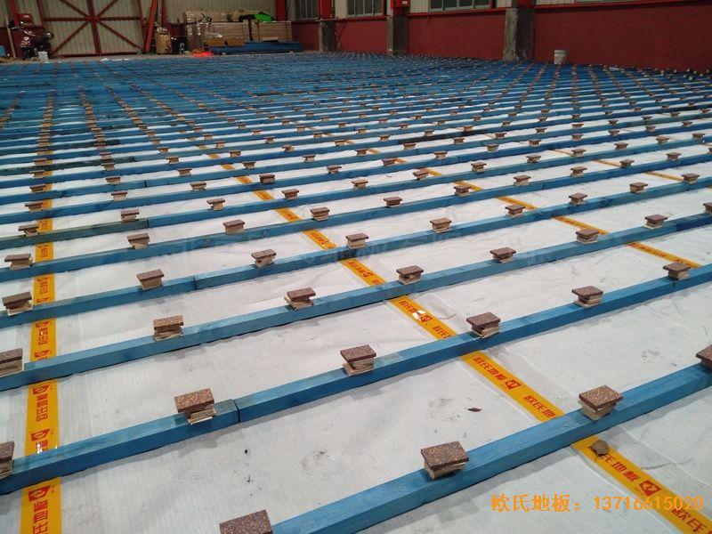 湖南长沙雨花区78号球馆体育木地板施工案例