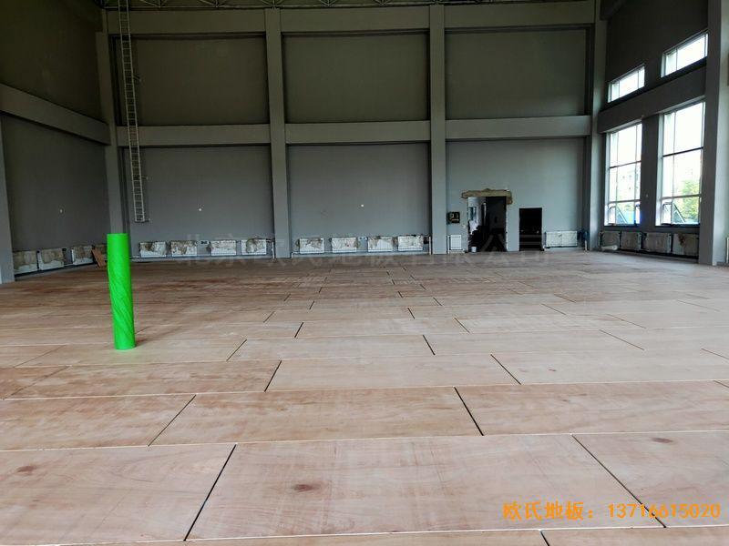 辽宁沈阳于洪机场体育地板安装案例