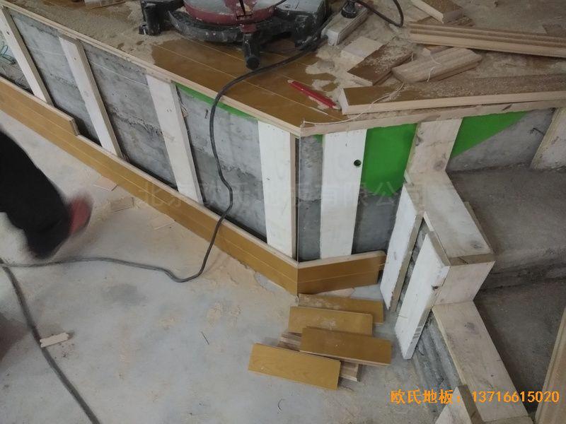 遵义仁怀市茅台文体中心运动木地板安装案例