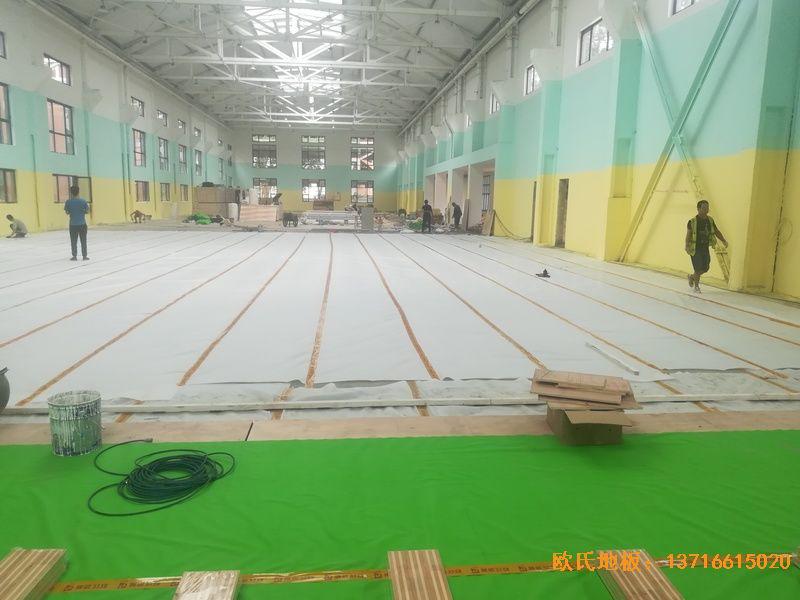 郑州中原区酷康篮球馆体育地板铺设案例