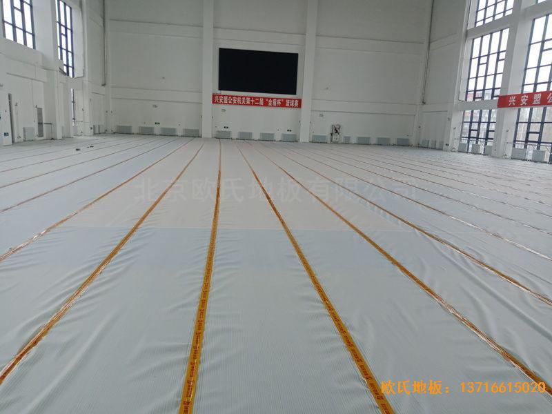 青岛黄岛区滨海街道中心小学运动地板安装案例