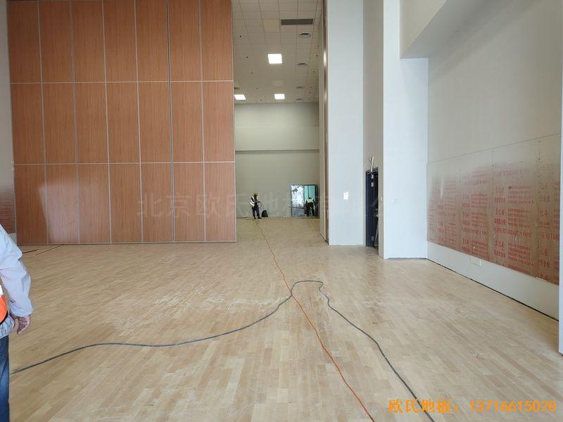 北京环球影城运动地板铺设案例