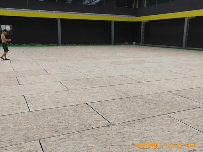 南阳骄阳体育篮球俱乐部体育地板铺装案例1