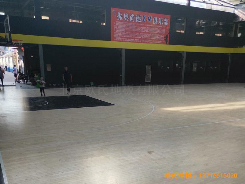 南阳骄阳体育篮球俱乐部体育地板铺装案例2