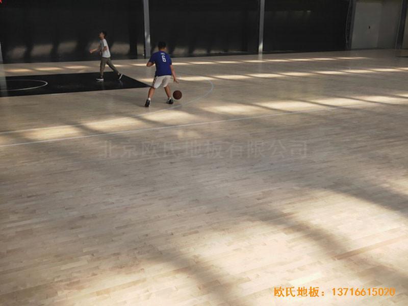 南阳骄阳体育篮球俱乐部体育地板铺装案例3