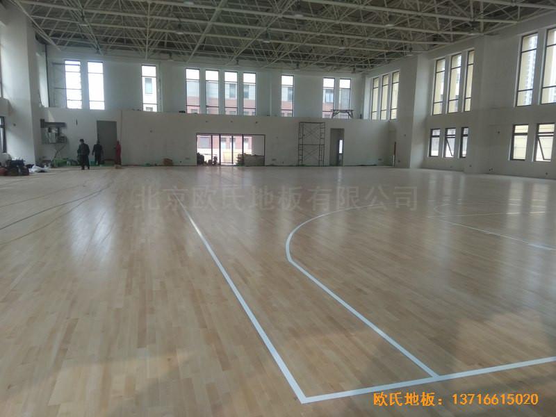 山东济南唐冶城篮球馆体育地板施工案例0