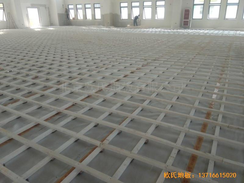 山东济南唐冶城篮球馆体育地板施工案例1