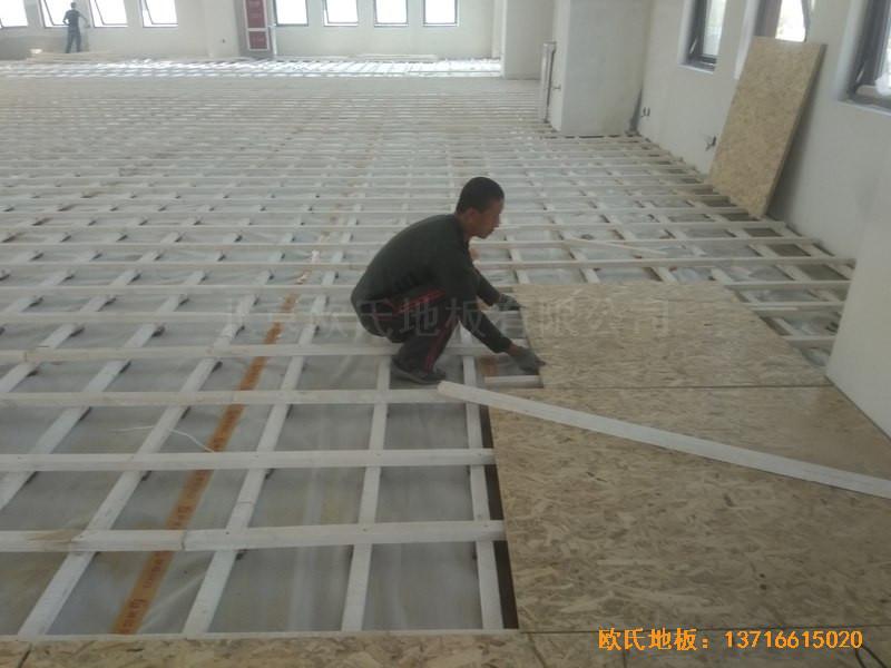 山东济南唐冶城篮球馆体育地板施工案例2