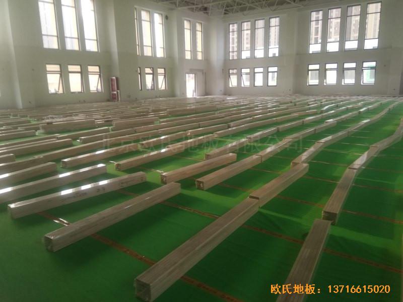 山东济南唐冶城篮球馆体育地板施工案例3