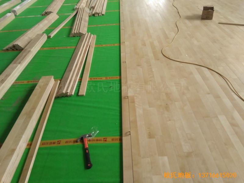 山东济南唐冶城篮球馆体育地板施工案例4