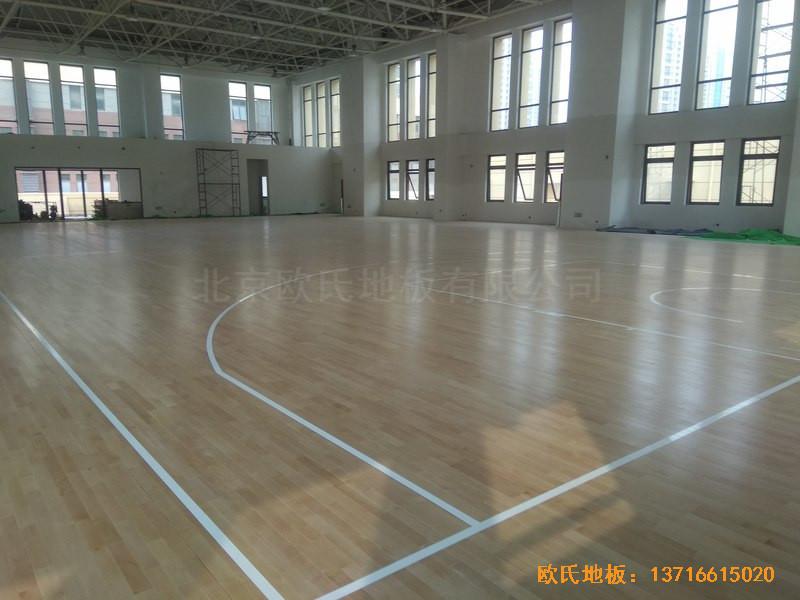 山东济南唐冶城篮球馆体育地板施工案例5