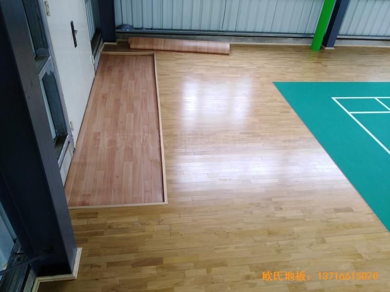 巴布亚新几内亚羽毛球馆运动地板铺设案例3