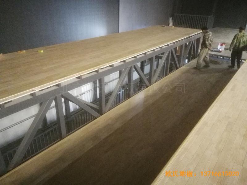 河北承德滦平一中升降舞台运动地板铺装案例2