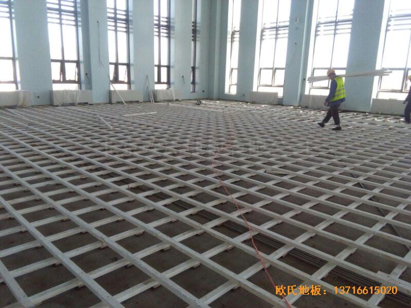 甘肃敦煌大酒店羽毛球馆运动地板铺设案例1