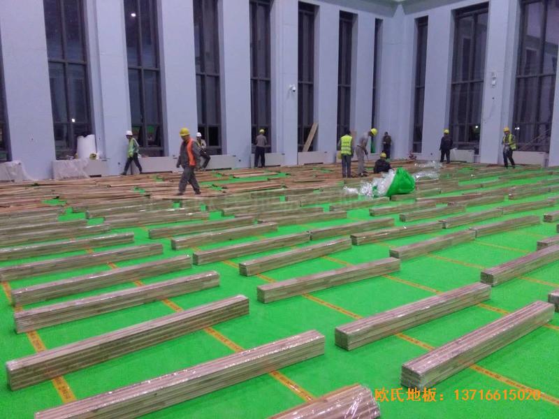 甘肃敦煌大酒店羽毛球馆运动地板铺设案例2