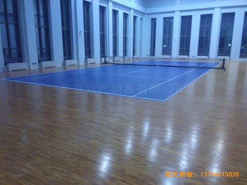 甘肃敦煌大酒店羽毛球馆运动地板铺设案例4