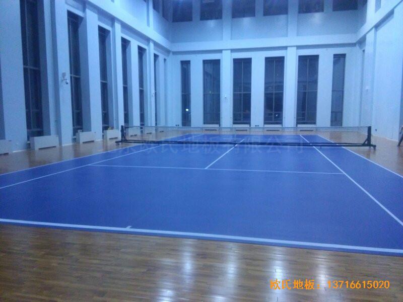 甘肃敦煌大酒店羽毛球馆运动地板铺设案例5