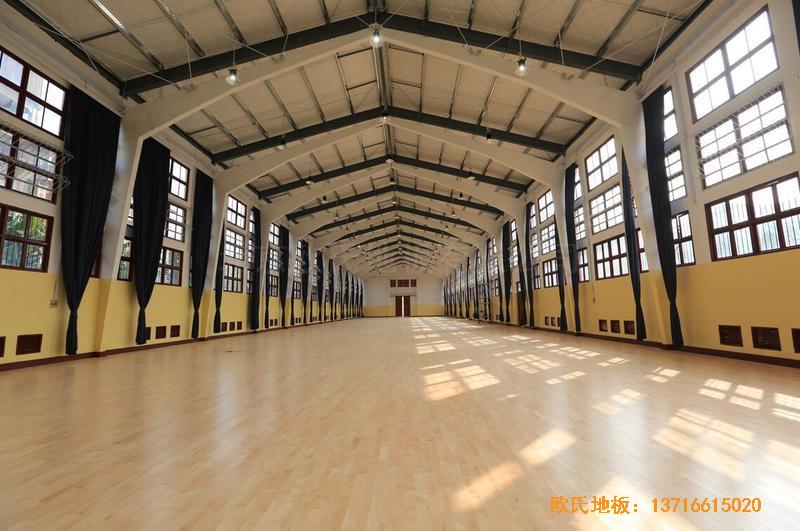福建中国女排中国队训练基地排球场馆运动木地板安装案例4