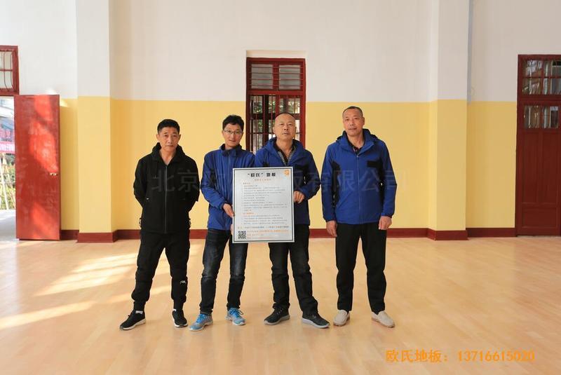 福建中国女排中国队训练基地排球场馆运动木地板安装案例5