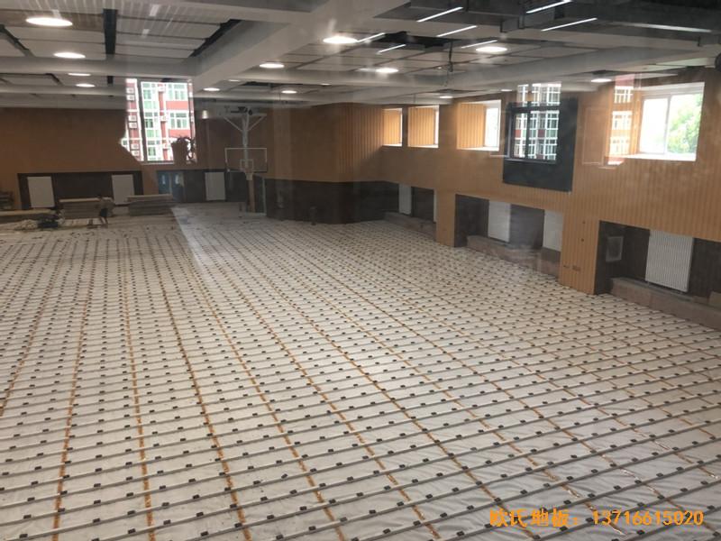 北京昌平新东方体育馆运动木地板铺设案例2