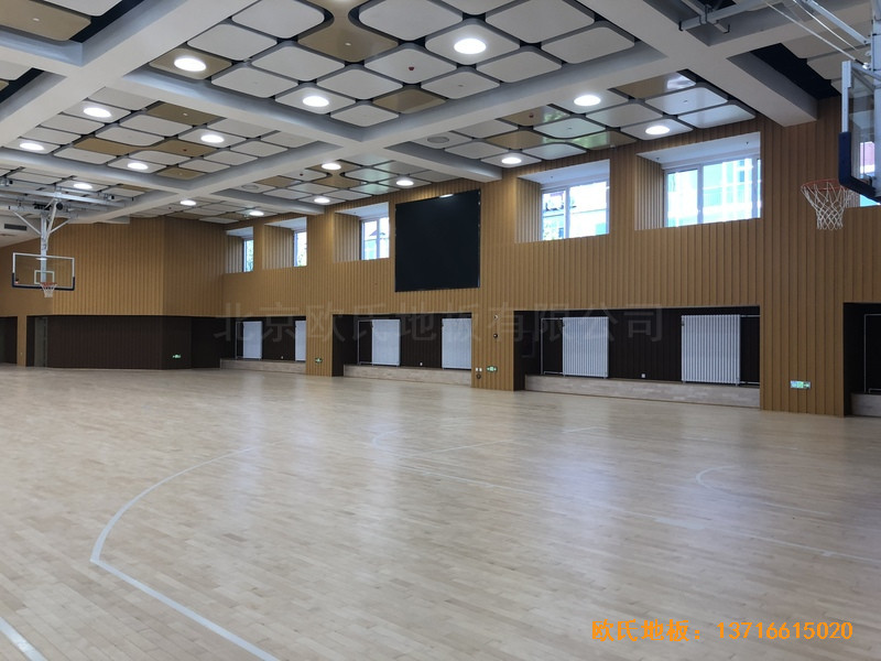 北京昌平新东方体育馆运动木地板铺设案例3