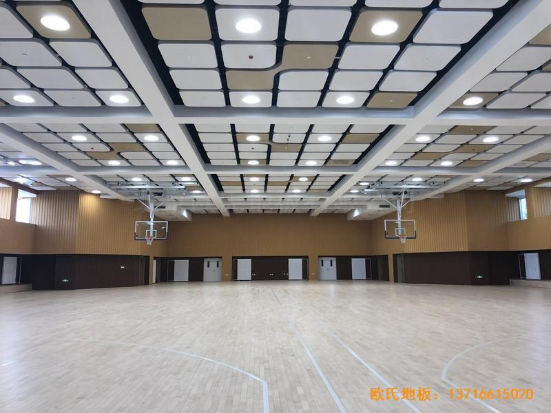 北京昌平新东方体育馆运动木地板铺设案例4