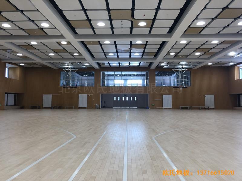 北京昌平新东方体育馆运动木地板铺设案例5