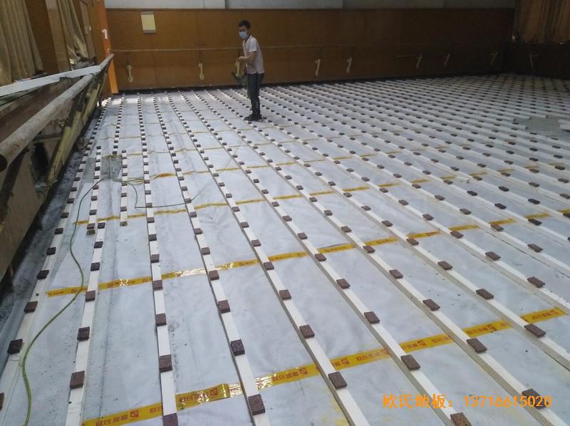 北京舞蹈学院体育地板安装案例1
