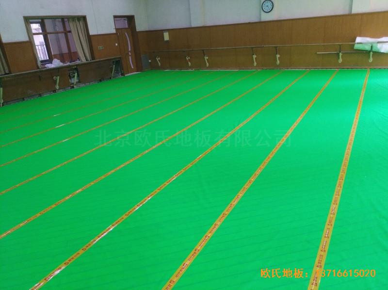 北京舞蹈学院体育地板安装案例2
