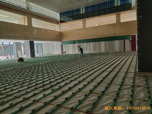 杭州26号地商务金融运动木地板铺装案例