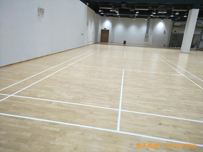上海铺东宁桥路669号体育馆体育地板安装案例