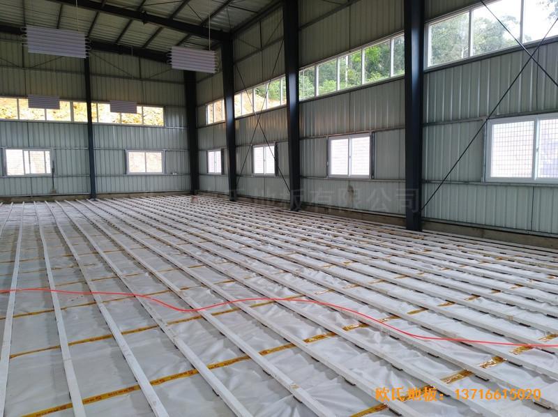 巴布亚新几内亚羽毛球馆运动地板铺设案例