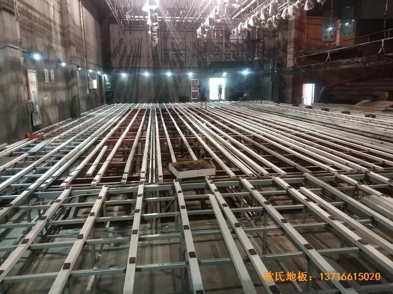 杭州职工之家舞台运动地板施工案例