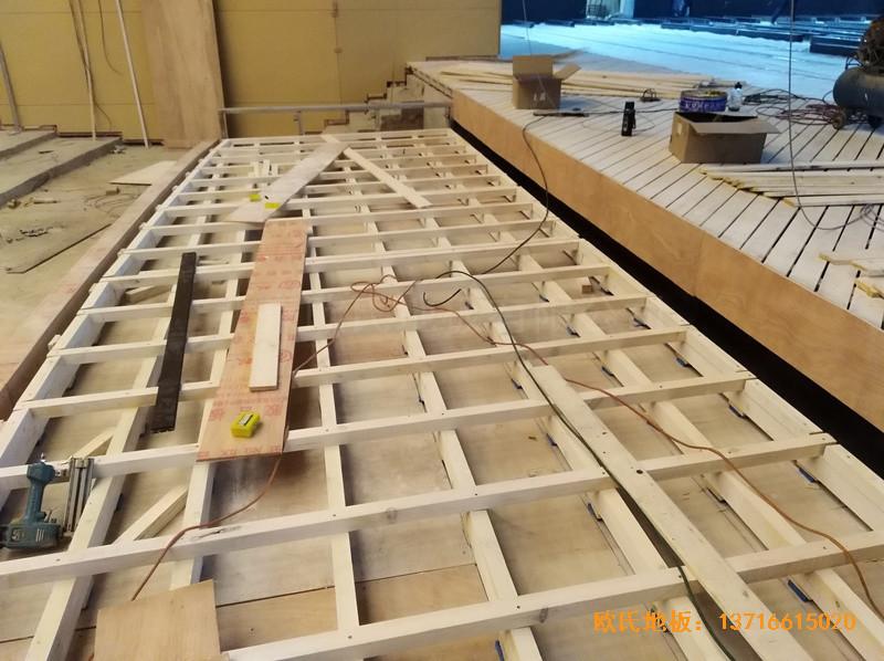 河北廊坊益田同文学校舞台体育地板施工案例
